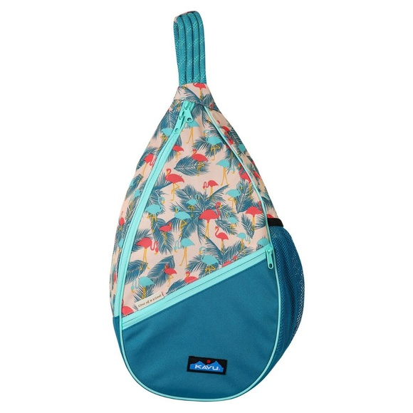 KAVU Paxton Pack Backpack Crossbody Rope Sling Bag Flamingo Fest